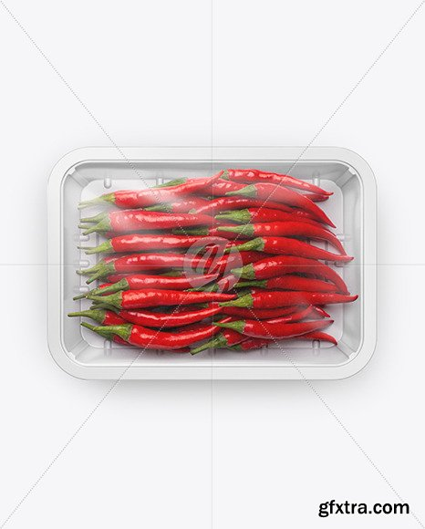 Plastic Tray With Red Chili Peppers Mockup 53613