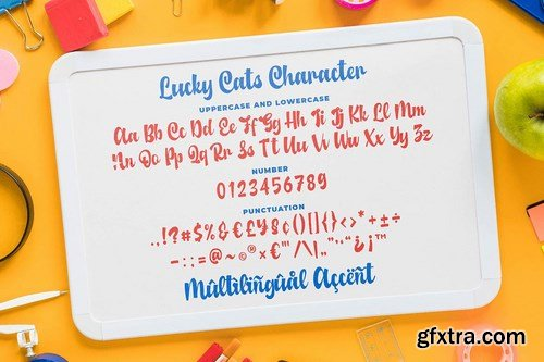Lucky Cats - Funny Script Font