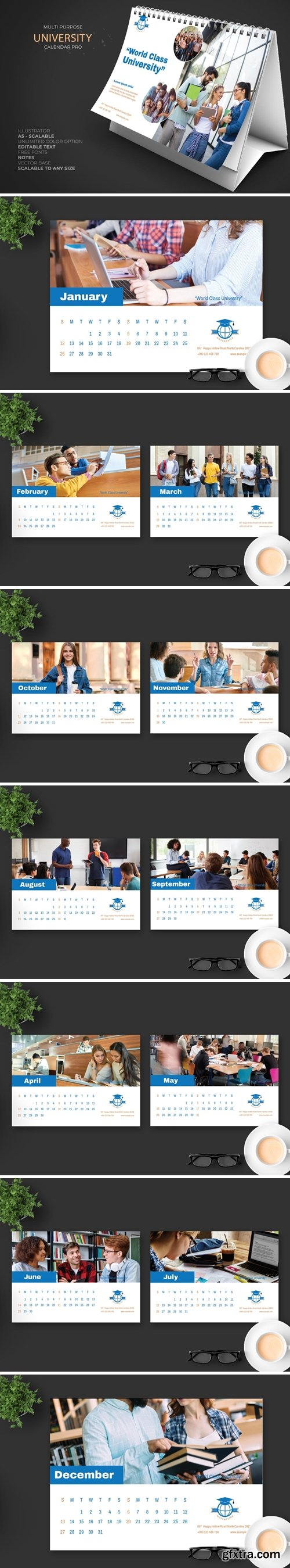 2020 University Calendar Pro