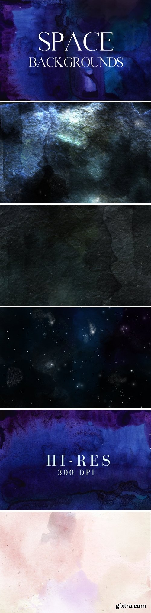 5 mystic space watercolor backgrounds