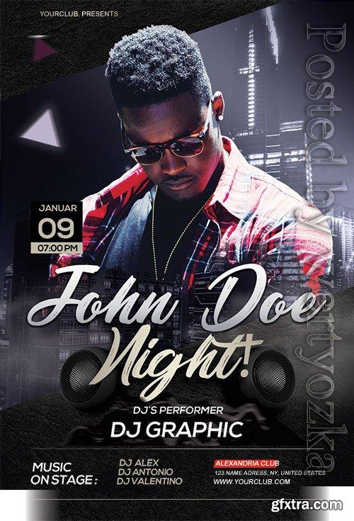 John Doe Night - Premium flyer psd template