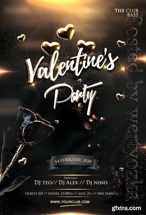 Valentine's Celebration Party - Premium flyer psd template