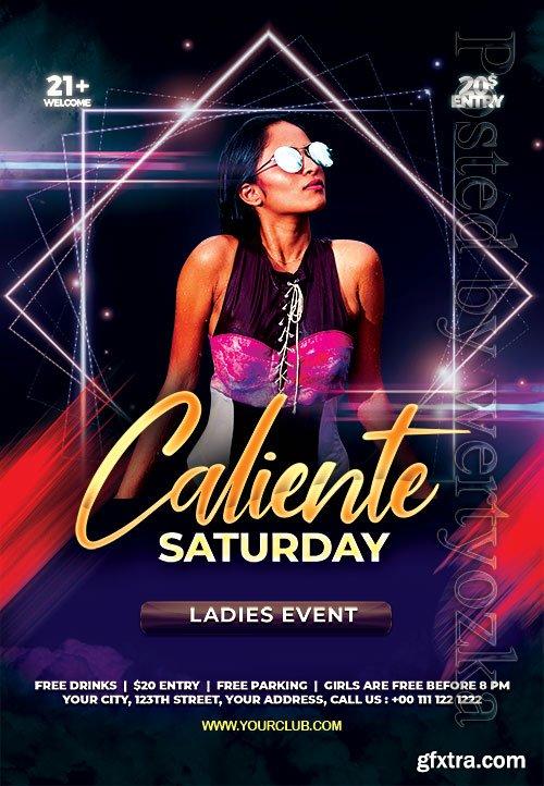 Caliente Saturday - Premium flyer psd template