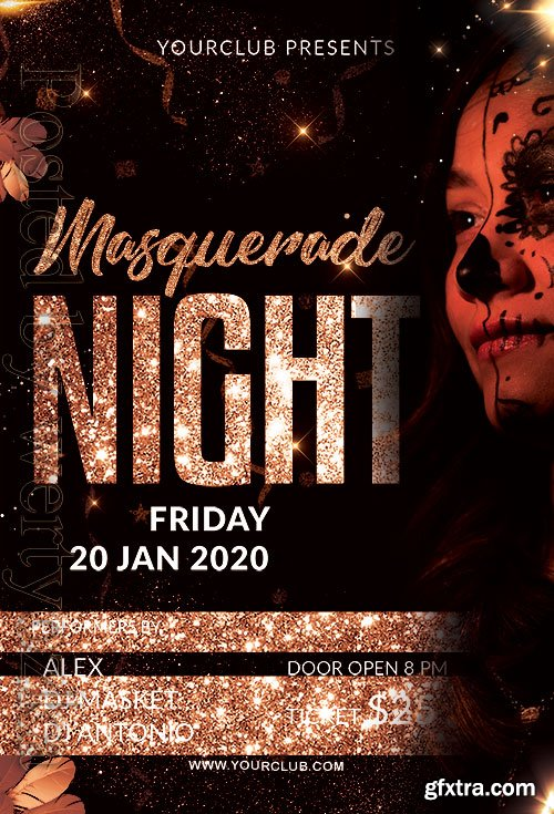 Masquerade Night - Premium flyer psd template