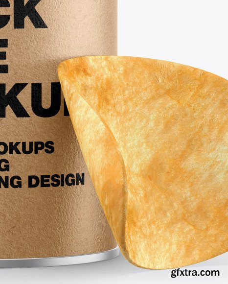 Kraft Snack Tube w/ Chips Mockup 53524