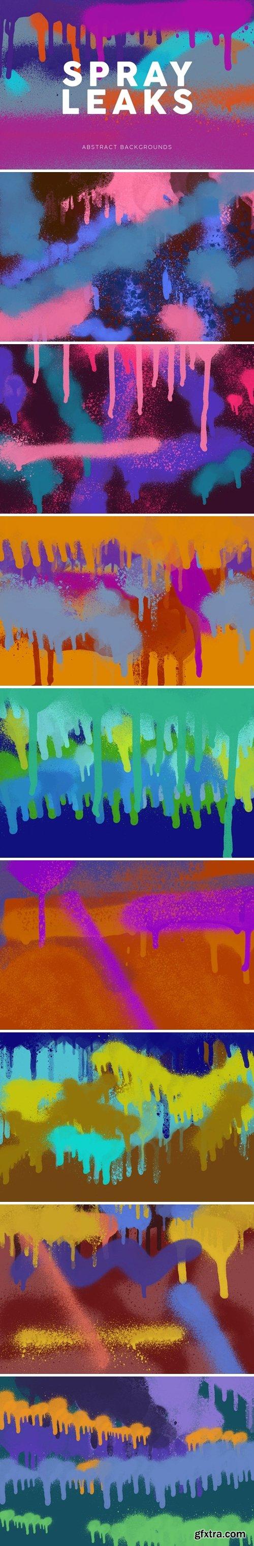 Spray Paint Leaks Backgrounds
