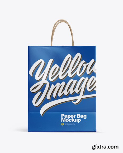 Glossy Shopping Bag w/ Rope Handles Mockup 53761