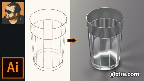 How To Draw a Realistic Glass in Adobe Illustrator CC
