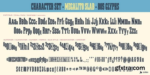 Megalito Slab Font Family
