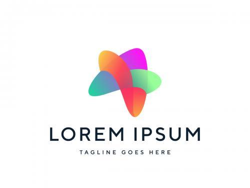 Modern Abstract Star Logo Design Vector Template - modern-abstract-star-logo-design-vector-template