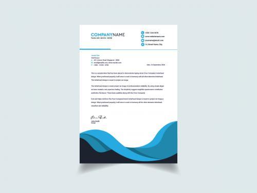 Modern And Clean Letterhead Design Template - modern-and-clean-letterhead-design-template