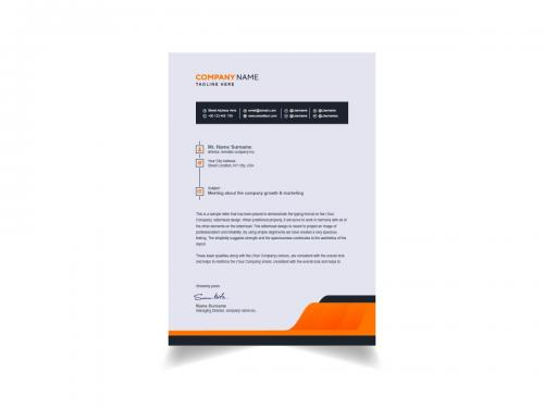 Modern And Clean Letterhead Template Design - modern-and-clean-letterhead-template-design-a29669d8-8a8b-4898-96d1-839d65364d91
