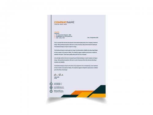 Modern And Clean Letterhead Template Design - modern-and-clean-letterhead-template-design