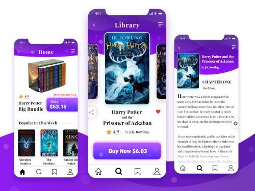 Modern Bookstore UI Design - modern-bookstore-ui-design