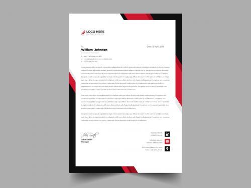 Modern Business Letterhead Template - modern-business-letterhead-template