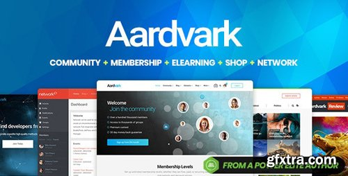 ThemeForest - Aardvark v4.14 - Community, Membership, BuddyPress Theme - 21281062