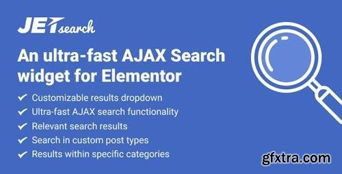 JetSearch v2.1.1 - An Ultra-Fast AJAX Search Widget for Elementor