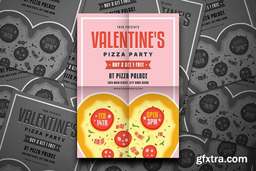 Valentine's Pizza Party Flyer