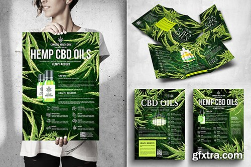 Cannabis Hemp CBD Posters & Flyers Bundle