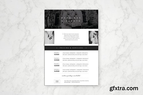 Photography Pricing Guide Template 4