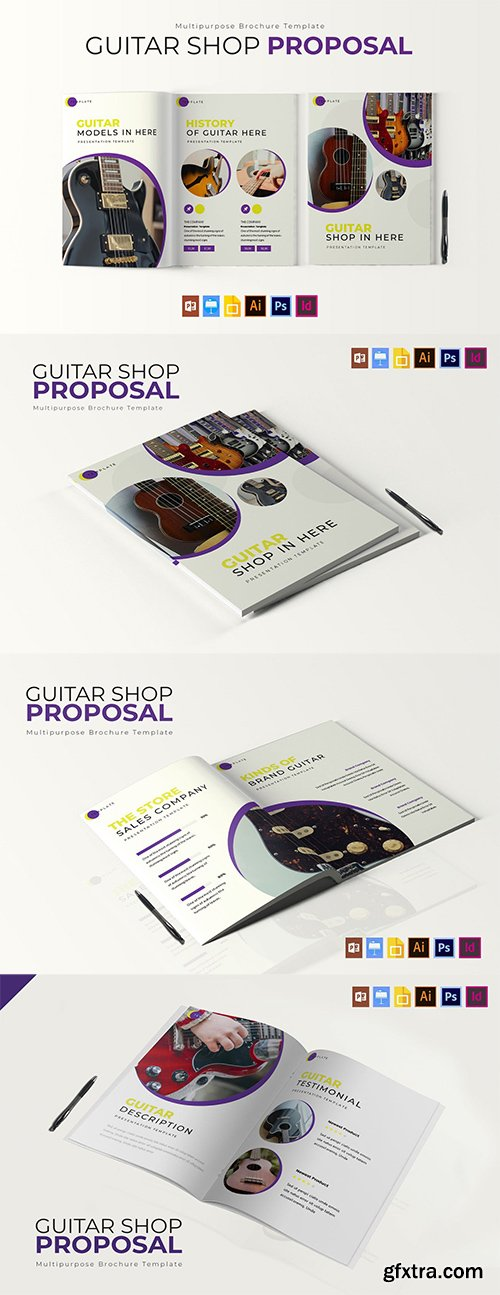 Guitar Shop   Brochure Template