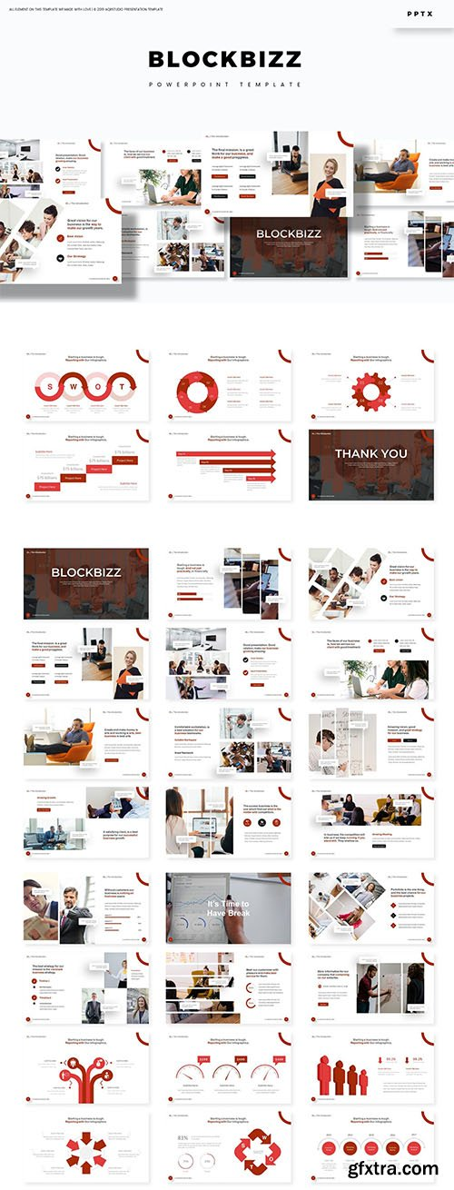 Blockbizz - Powerpoint, Keynote and Google Slides Template
