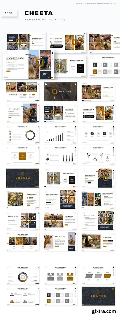 Cheeta - Powerpoint, Keynote and Google Slides Template