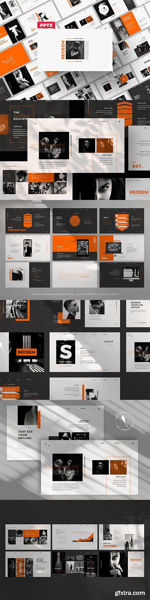 Redeem Powerpoint, Keynote and Google Slides Template