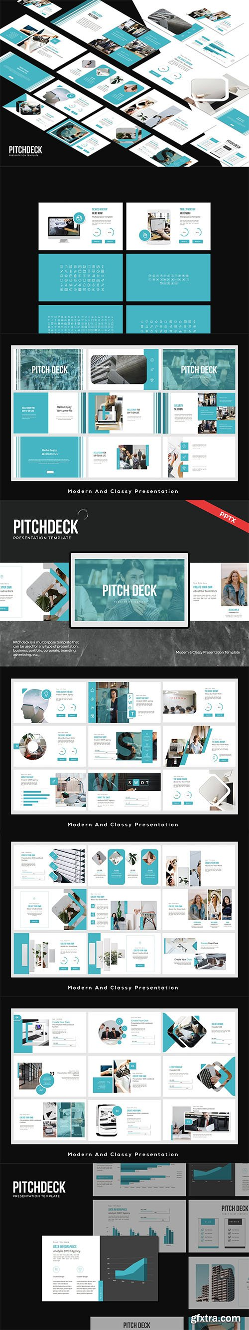 Pitch deck Business Presentation Powerpoint, Keynote and Google Slides Template