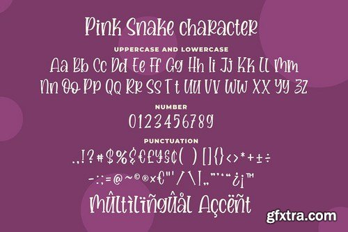 Pink Snake - a Quirky Handwritten Font