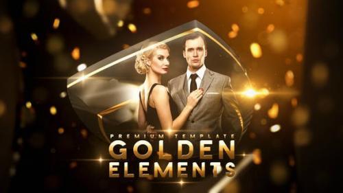 Videohive - Golden Elements
