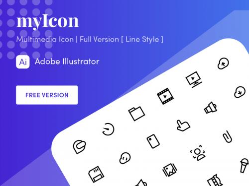 Multimedia Icon | myIcon Family - multimedia-icon-myicon-family