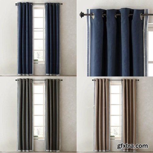Modern fabric curtains 03