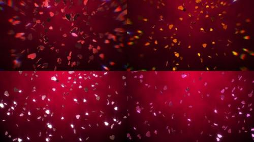 Videohive - Hearts Falling Packs