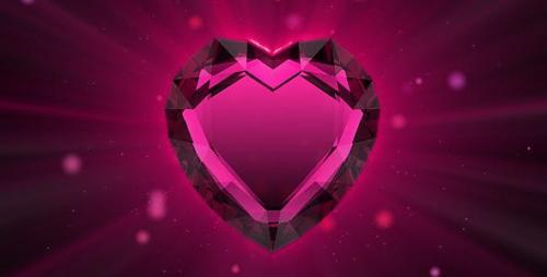 Videohive - Valentine`s ruby heart