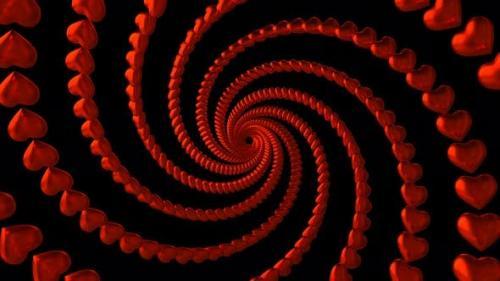 Videohive - Spiral Hearts 4K