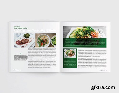 Square Food Cookbook Magazine