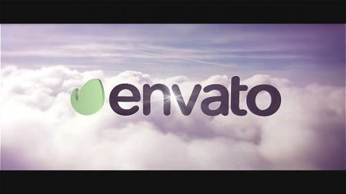 Videohive - Fly Through Clouds Cinema Logo