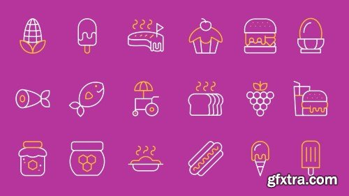 Videohive 490 Animated Line Icons 23629751