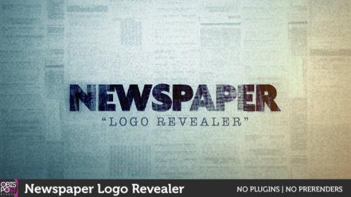 Videohive - Newspaper Logo Reveal