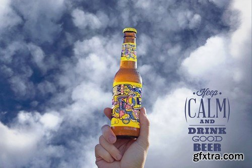 Hand in the Sky Beer Mockup