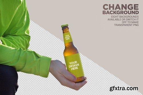 Mountain Backgrounds Beer Mockup