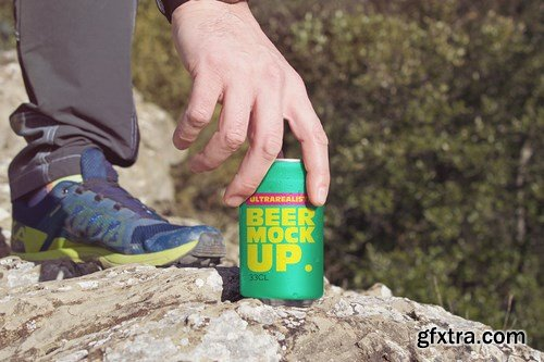 Hand Mountain Can Mockup Duo