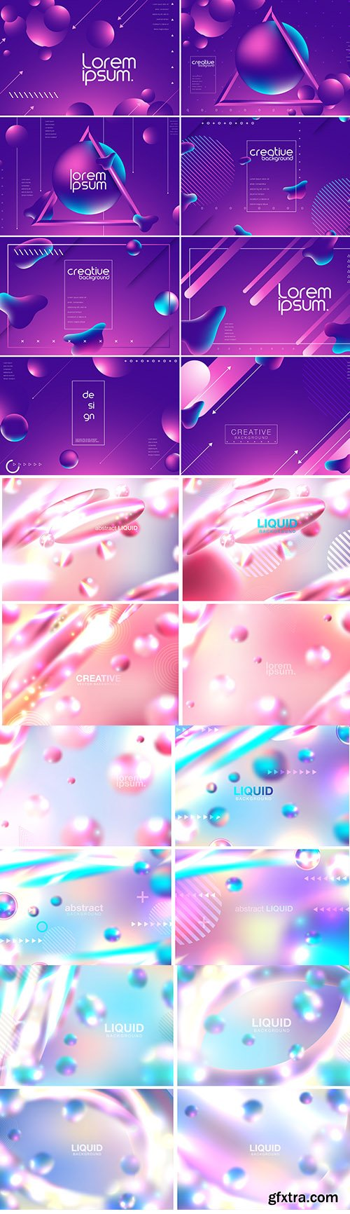 Abstract Vector Background with Liquid Bubbles