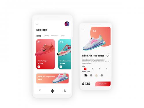 Nike Store E-commerce App UI kit - nike-store-app