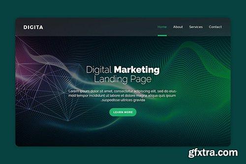 Digital - Premium Landing Page Banner