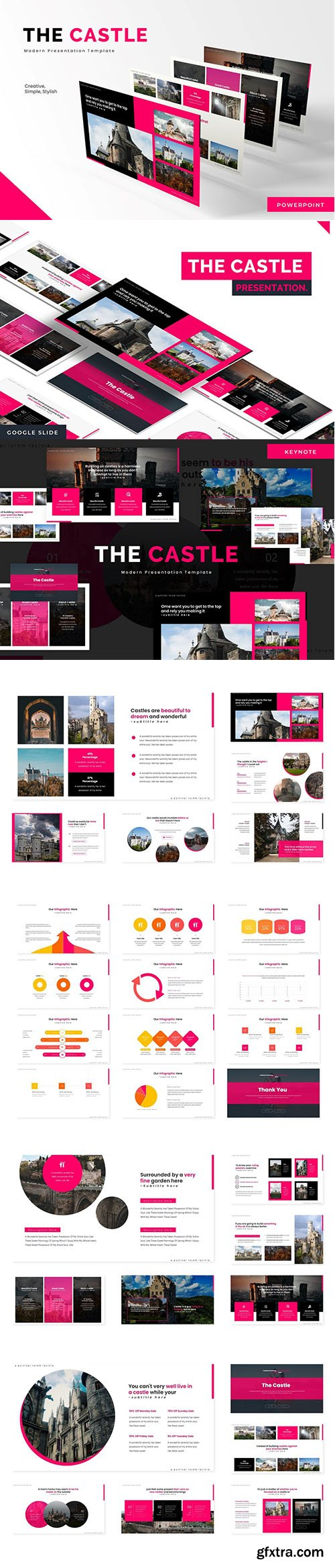 The Castle - Powerpoint Template, Keynote Template and Google Slide Template