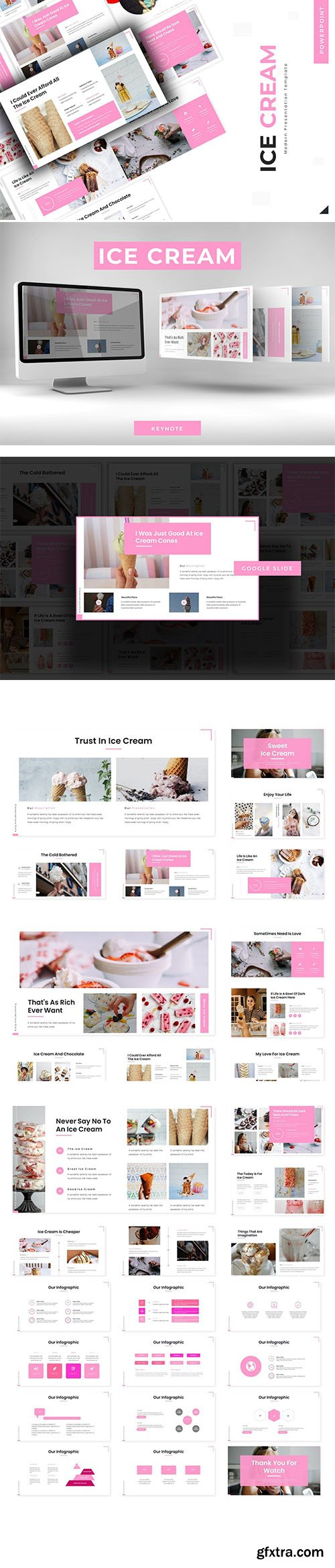 Sweet Ice Cream - Powerpoint Template, Keynote Template and Google Slide Template