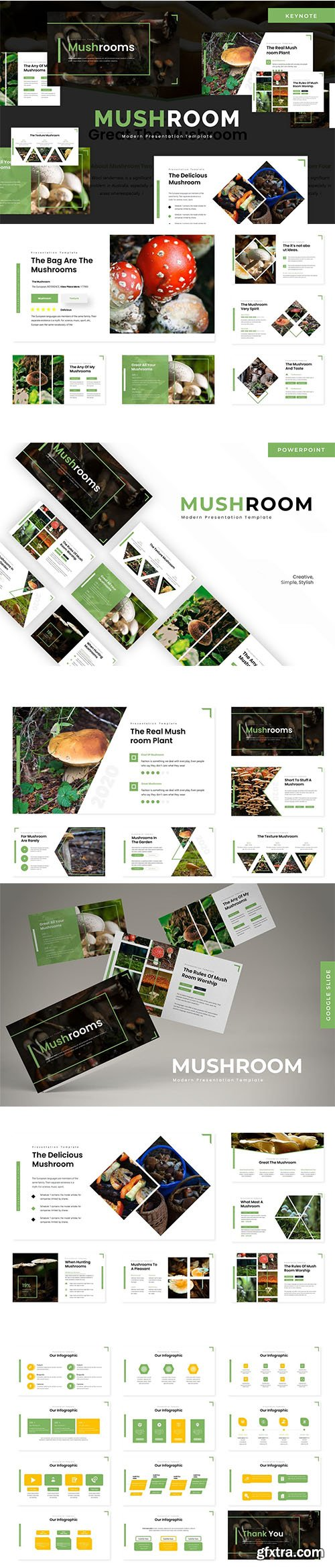 Mushroom - Powerpoint Template, Keynote Template and Google Slide Template