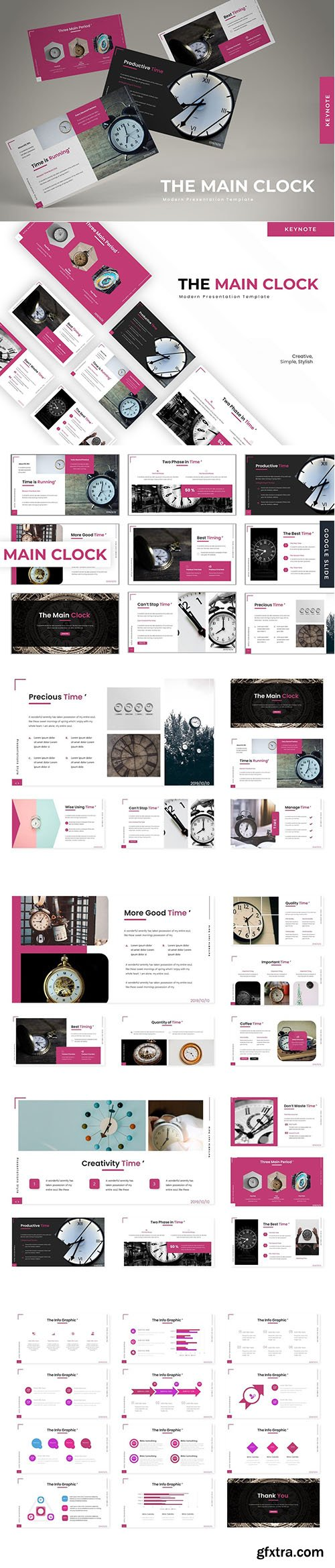 The Main Clock - Powerpoint Template, Keynote Template and Google Slide Template
